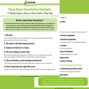 image of home buyer presentation checklist