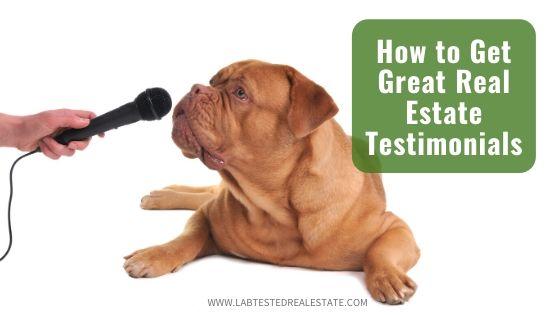 dog giving real estate testimonial